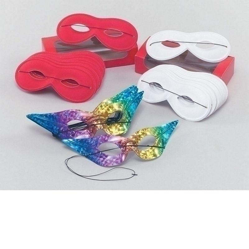 Small Red Domino |Eye Masks| Unisex One Size - Eye Masks Mad Fancy Dress