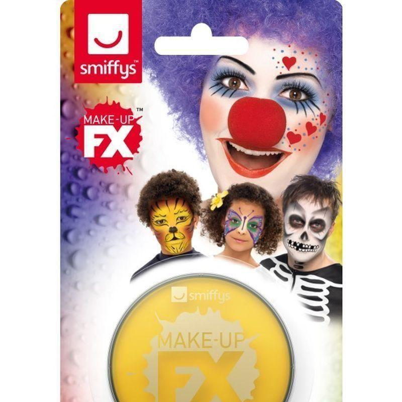 Smiffys Make Up Fx On Display Card Adult Yellow - Cosmetics & Disguises Mad Fancy Dress