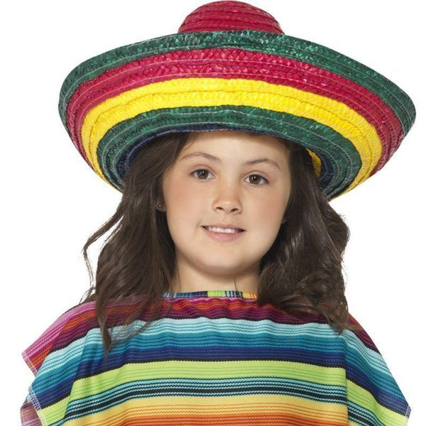 Sombrero Hat Kids Multi - Boys Costumes Mad Fancy Dress