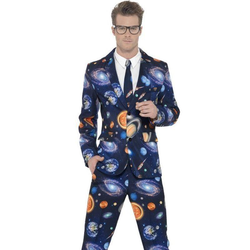 Space Suit Adult Blue - Stands Out Suits Mad Fancy Dress