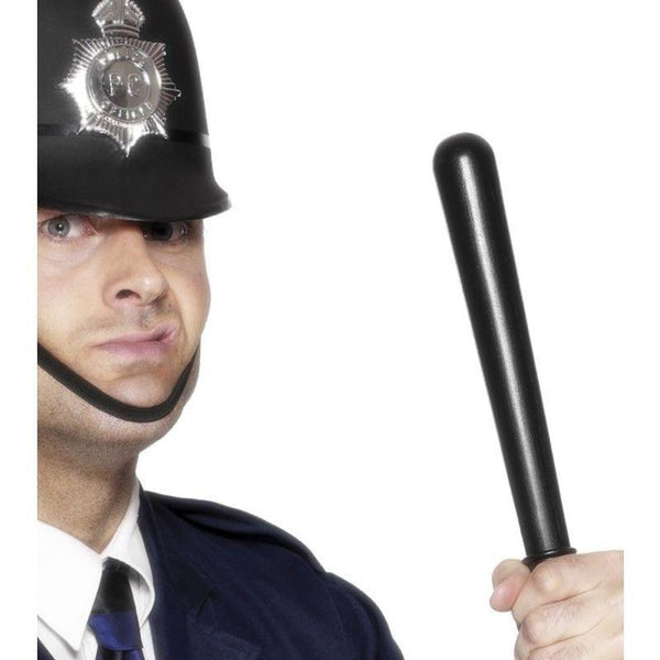 Squeaking Policemans Truncheon Adult Black - Cops & Robbers Mad Fancy Dress