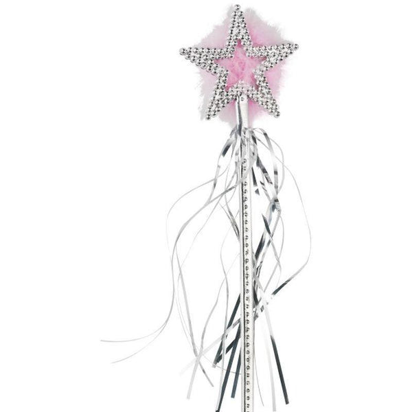 Star Wand Adult Silver - Faries Wings & Wands Mad Fancy Dress