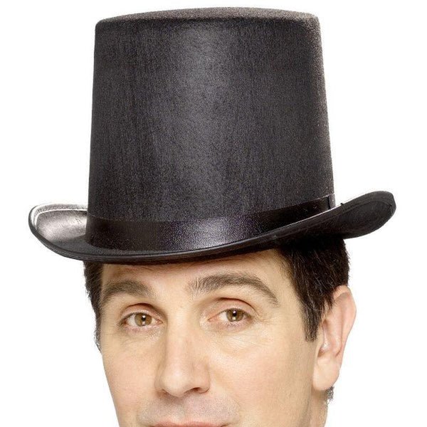 Stovepipe Topper Hat Adult Black - Historical Fancy Dress Mad Fancy Dress
