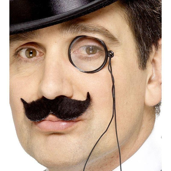 Tales Of Old England Monocle Adult Black - Tales Of Old England Mad Fancy Dress