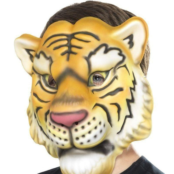 Tiger Mask Kids Yellow/black - Childrens Animal Costumes Mad Fancy Dress