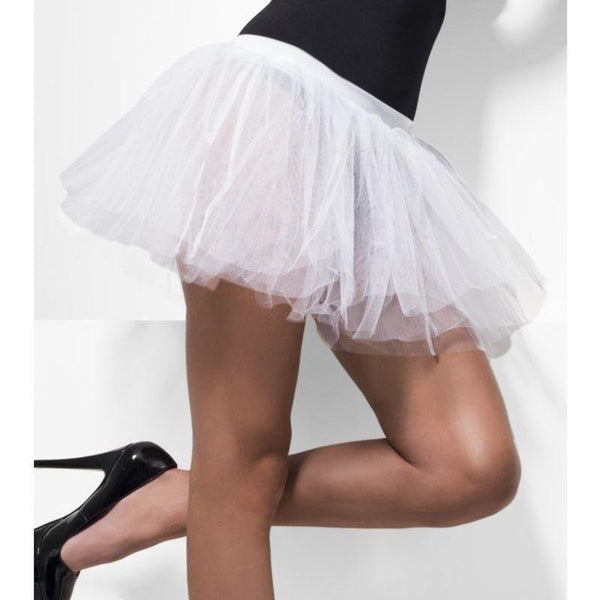 Tutu Underskirt Adult White - Sheer Desires Hosiery Mad Fancy Dress