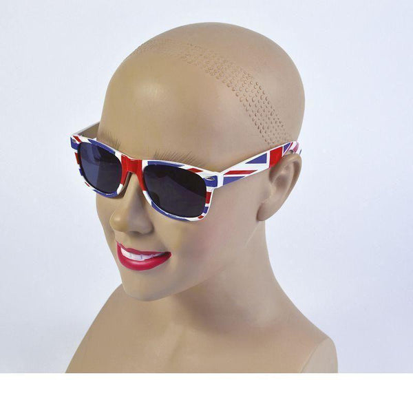 Union Jack Sunglasses |Costume Accessories| Unisex One Size - Costume Accessories Mad Fancy Dress