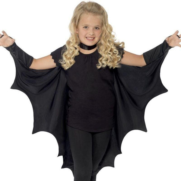 Vampire Bat Wings Kids Black - Halloween Zombie Alley Kidz Mad Fancy Dress