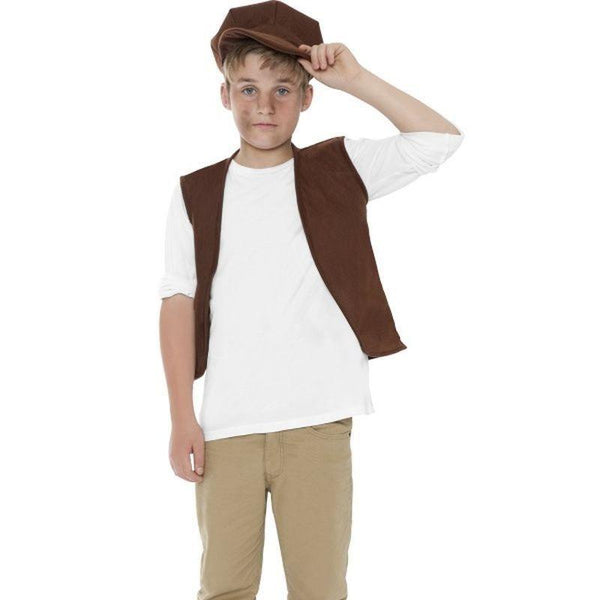 Victorian Urchin Set Kids Brown - Boys Costumes Mad Fancy Dress