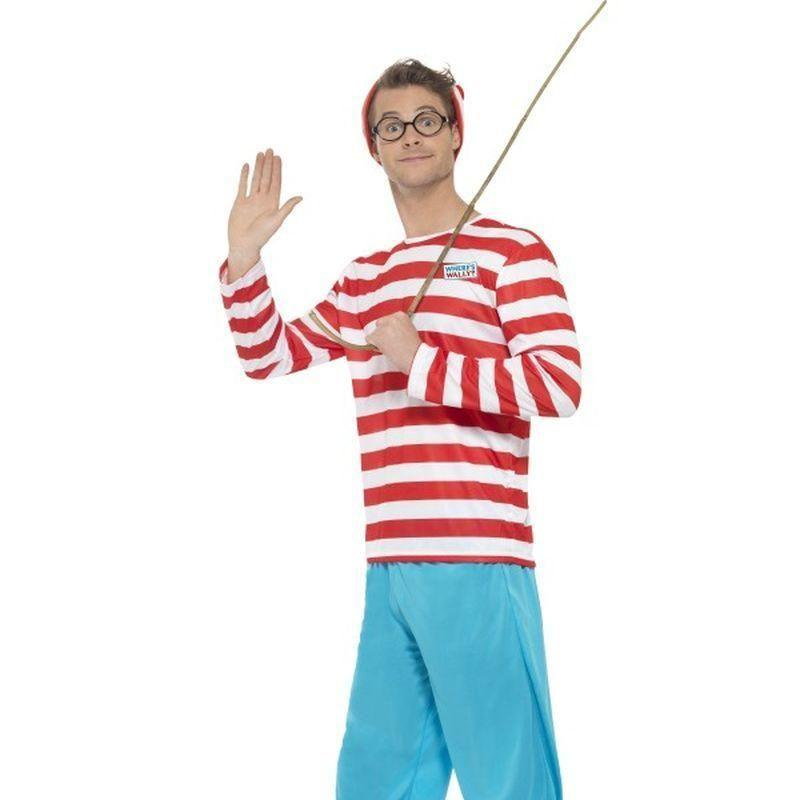 Wheres Wally Costume Adult Red/white/blue - Wheres Wally Licensed Fancy Dress Mad Fancy Dress