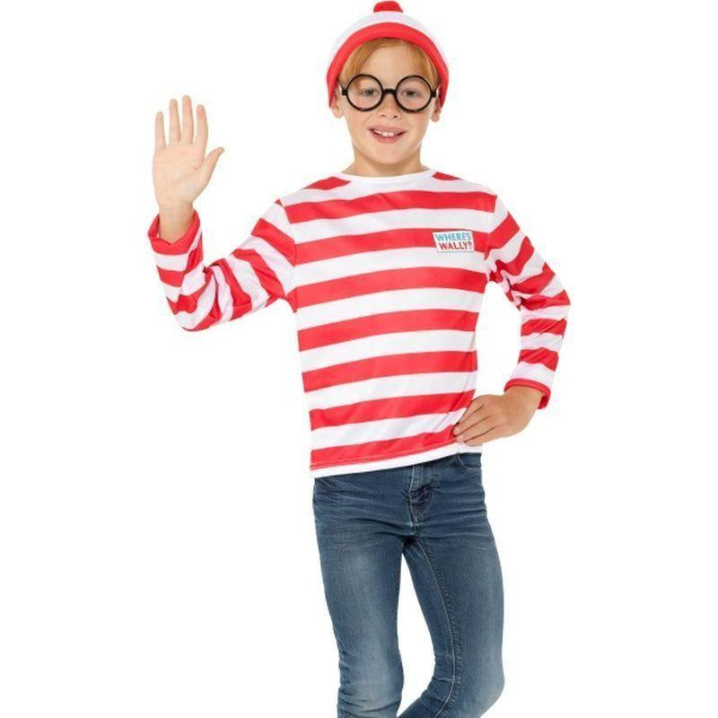 Wheres Wally Instant Kit Kids Red/white - Wheres Wally Licensed Fancy Dress Mad Fancy Dress