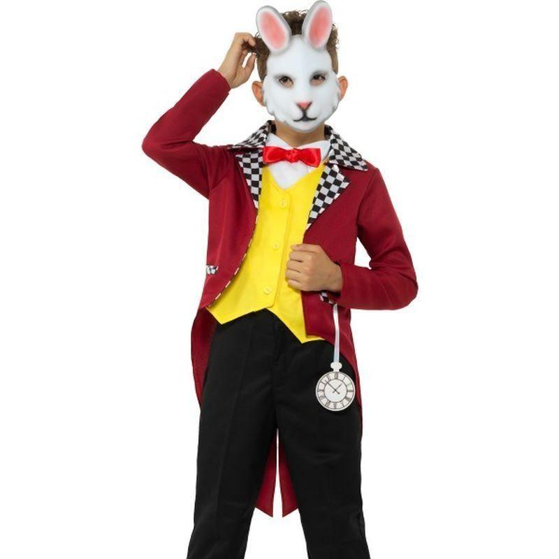 White Rabbit Costume With Jacket Kids Multi - Boys Costumes Mad Fancy Dress