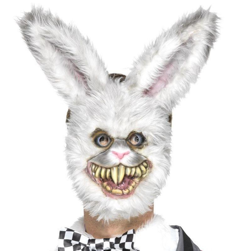 White Rabbit Mask Adult White - Halloween Costumes & Accessories Mad Fancy Dress