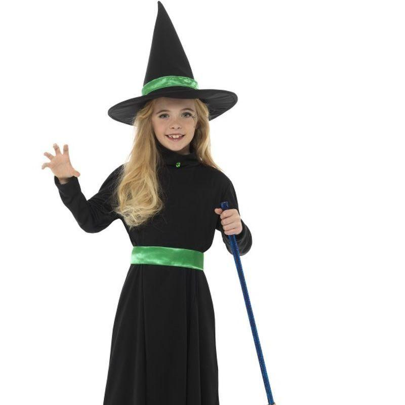 Wicked Witch Costume Kids Black - Halloween Costumes & Accessories Mad Fancy Dress