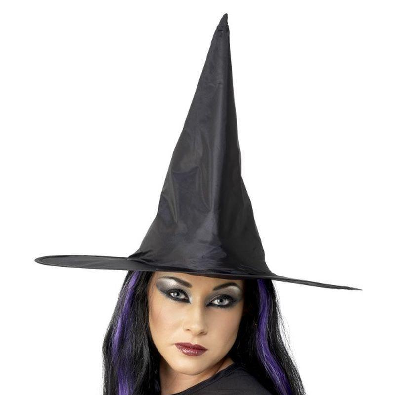 Witch Hat Adult Black - Halloween Costumes & Accessories Mad Fancy Dress