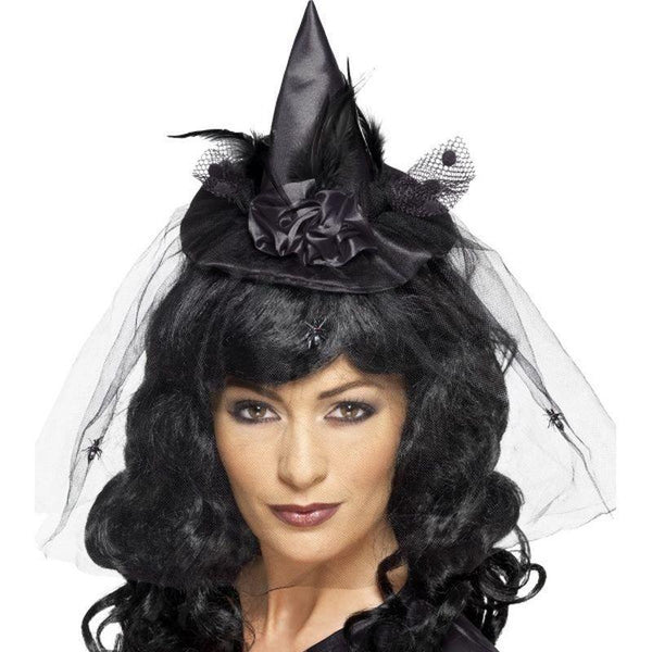 Witch Hat Mini Adult Black - Halloween Costumes & Accessories Mad Fancy Dress