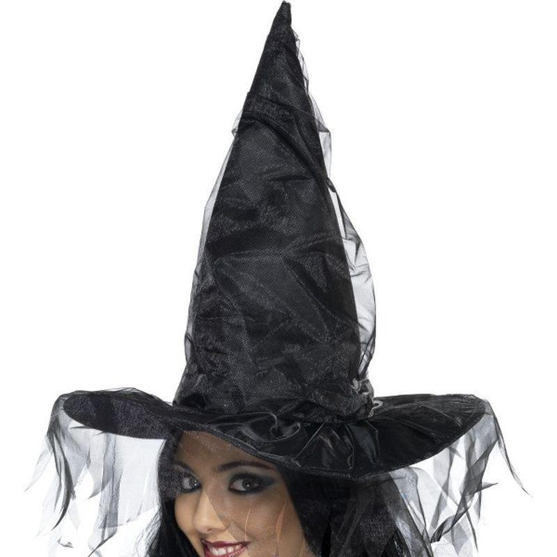 Witchs Hat Adult Black - Halloween Costumes & Accessories Mad Fancy Dress