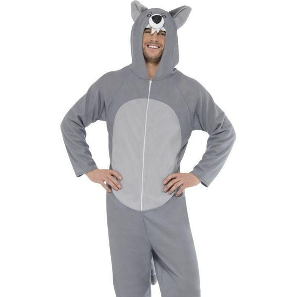 Wolf Costume Adult Grey - Adult Animal Mad Fancy Dress