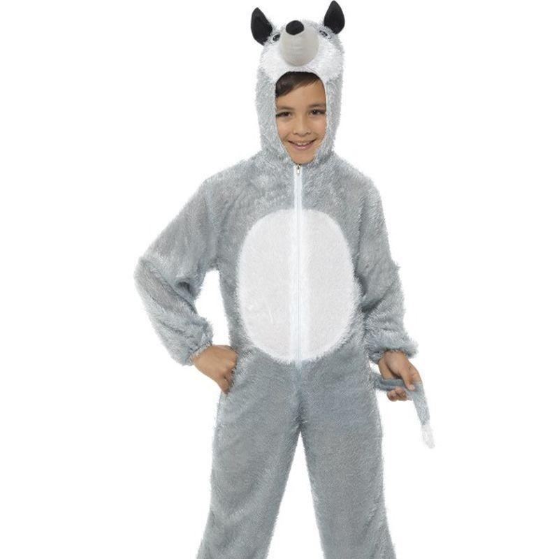 Wolf Costume Kids Grey - Childrens Animal Costumes Mad Fancy Dress