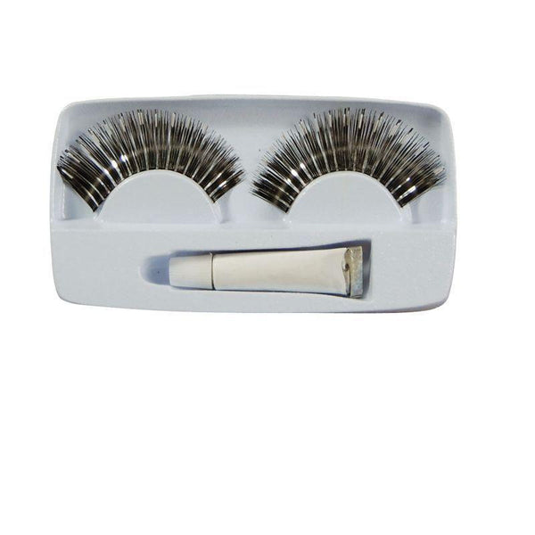 Womens Eyelashes Silver |Miscellaneous Disguises| Female One Size Halloween Costume - Miscellaneous Disguises Mad Fancy Dress