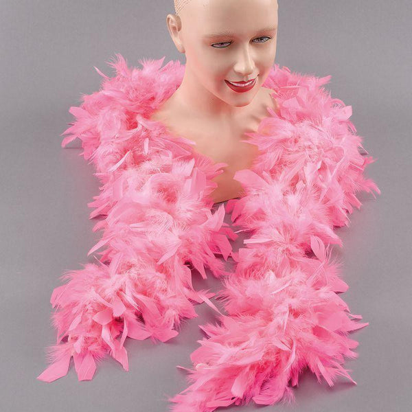 Womens Feather Boa Pink |Costume Accessories| Female One Size Halloween Costume - Costume Accessories Mad Fancy Dress