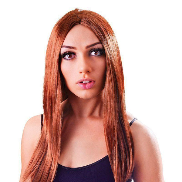 Womens Long 18 Wig Brown |Wigs| Female 18 Halloween Costume - Ladies Wigs Mad Fancy Dress
