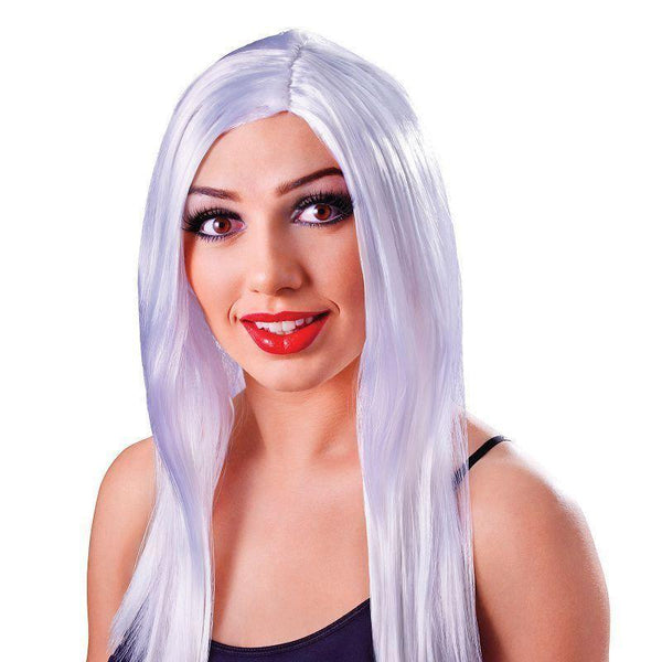 Womens Long 18 Wig White |Wigs| Female 18 Halloween Costume - Ladies Wigs Mad Fancy Dress