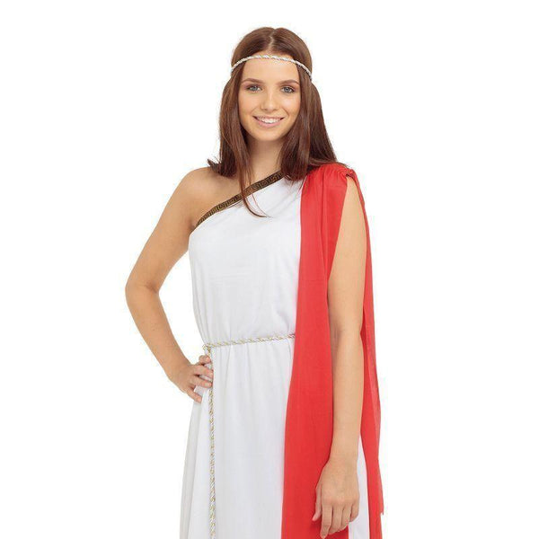 Womens Toga Ladies Adult Costume Female One Size Halloween Costume - Generic Ladies Costumes Mad Fancy Dress