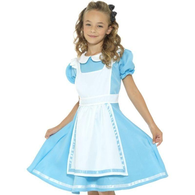 Wonderland Princess Costume Kids Blue - Girls Costumes Mad Fancy Dress
