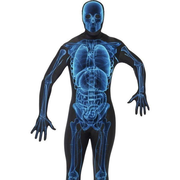 X Ray Costume Second Skin Suit Adult Black/blue - Halloween Costumes & Accessories Mad Fancy Dress