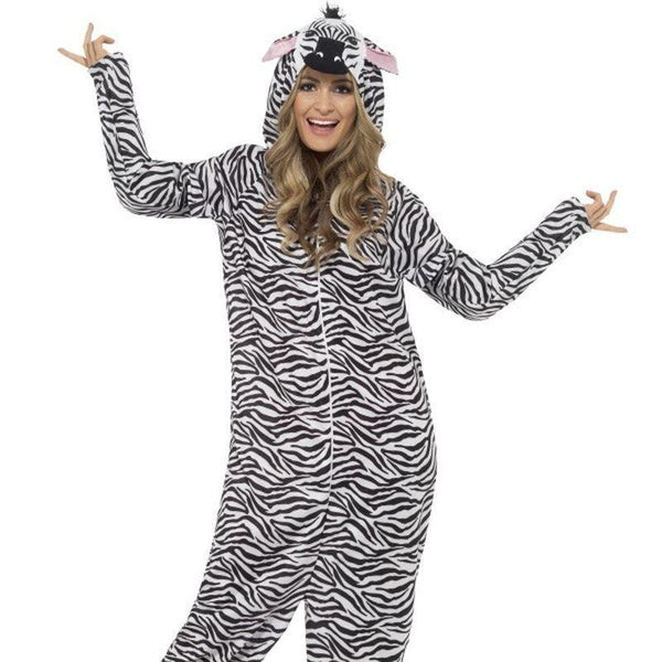 Zebra Costume Adult Black/white - Adult Animal Mad Fancy Dress