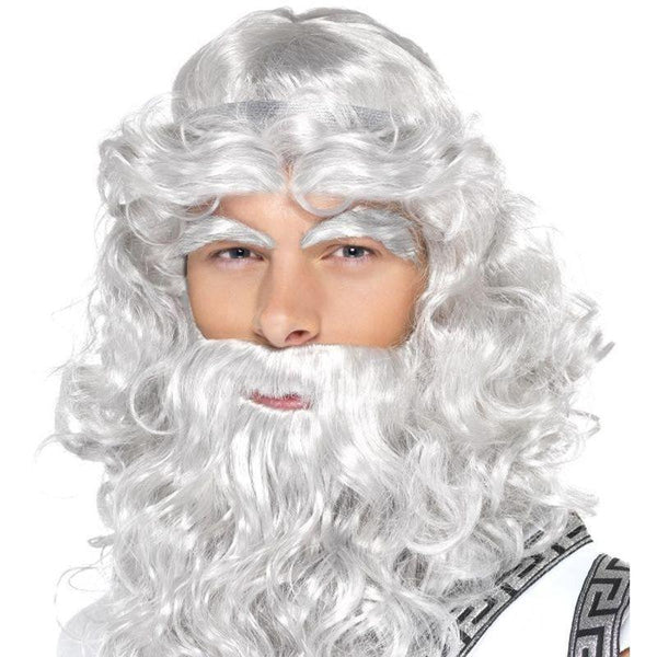 Zeus Wig Adult Grey - Mens Wigs Mad Fancy Dress