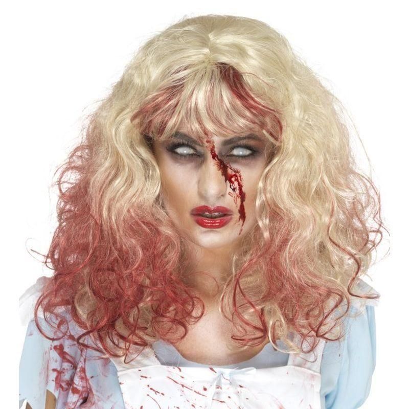 Zombie Bloody Alice Wig Adult Blonde - Halloween Zombie Alley Kidz Mad Fancy Dress
