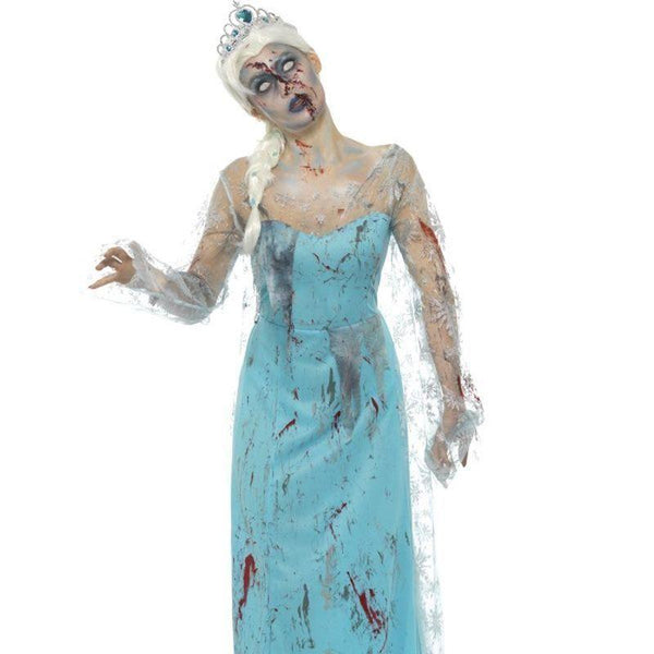 Zombie Froze To Death Costume Adult Blue - Halloween Zombie Alley Kidz Mad Fancy Dress