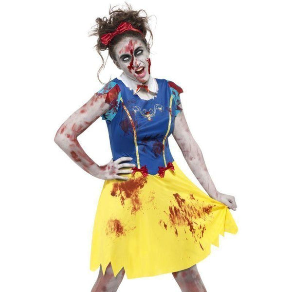 Zombie Miss Snow Costume Kids Black - Halloween Costumes & Accessories Mad Fancy Dress