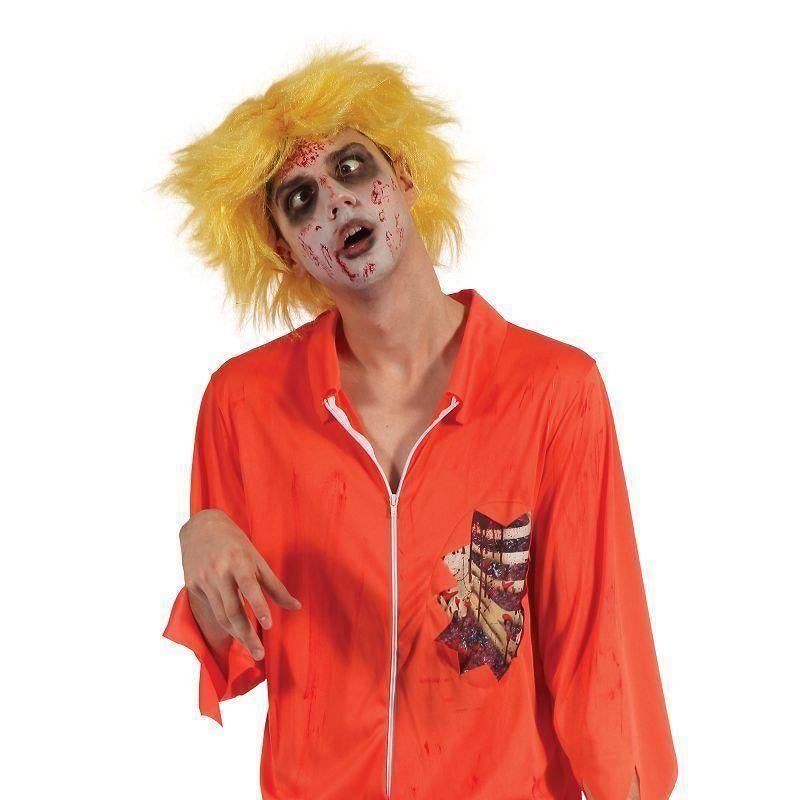 Zombie Prisoner Man |Orange Boiler Suit| |Adult Costumes| Chest Size 44 - Generic Mens Costumes Mad Fancy Dress