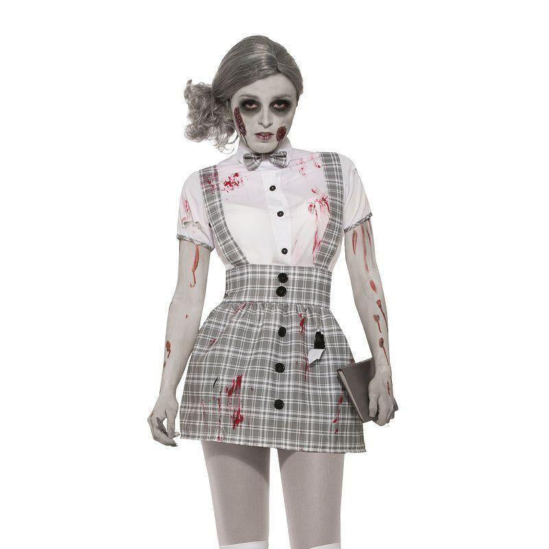 Zombie Schoolgirl |Adult Costumes| Female One Size Fits Most - Generic Ladies Costumes Mad Fancy Dress
