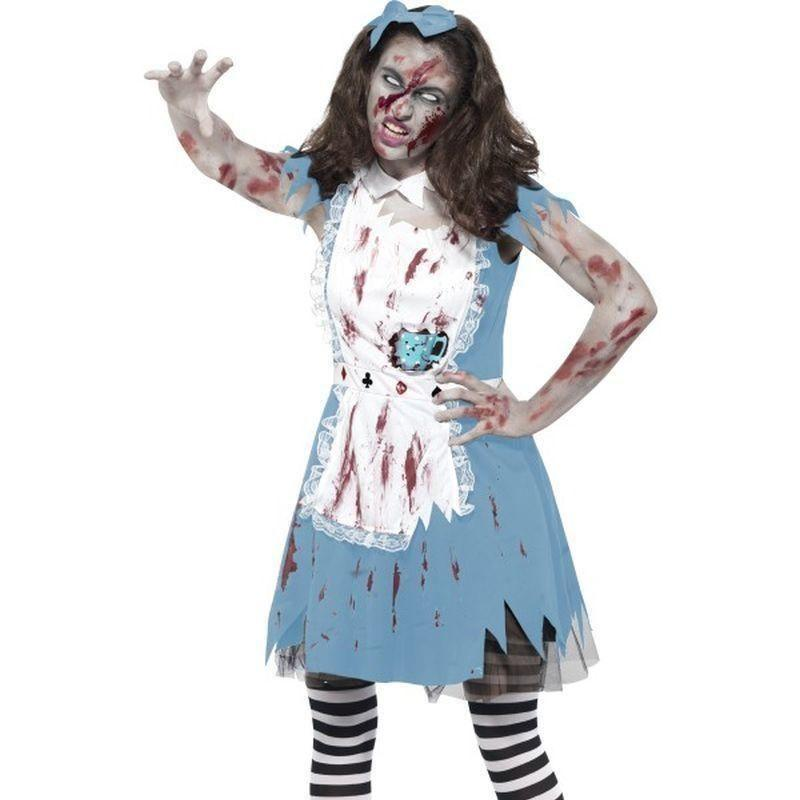 Zombie Tea Party Costume Kids Blue - Halloween Costumes & Accessories Mad Fancy Dress