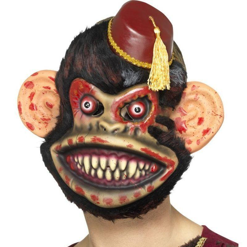 Zombie Toy Monkey Mask Adult Brown - Halloween Costumes & Accessories Mad Fancy Dress