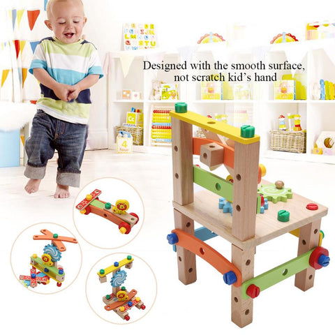 WOODEN TOOLS TOY ASSEMBLY KIT CHAIR – Shop RAD One Inc.