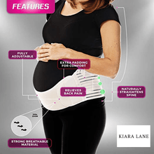 Load image into Gallery viewer, Baby Band™️- Pregnancy Support Brace Braces & Supports White / M