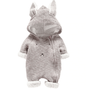 Bunny Woollen Fleece Jumpsuit Bodysuits