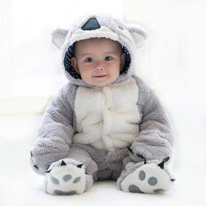 Fleece Koala Jumpsuit Rompers