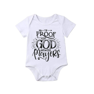 God Answers Prayers Jumpsuit Bodysuits
