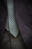 Ornamental Silk Tie - Yellow