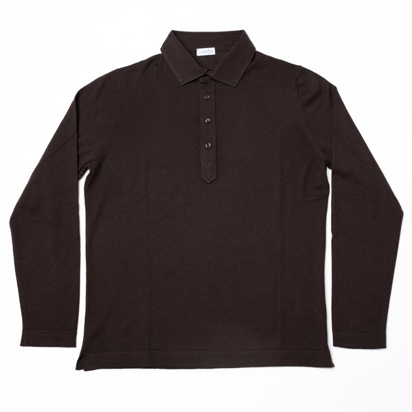 Merino Polo - Brown