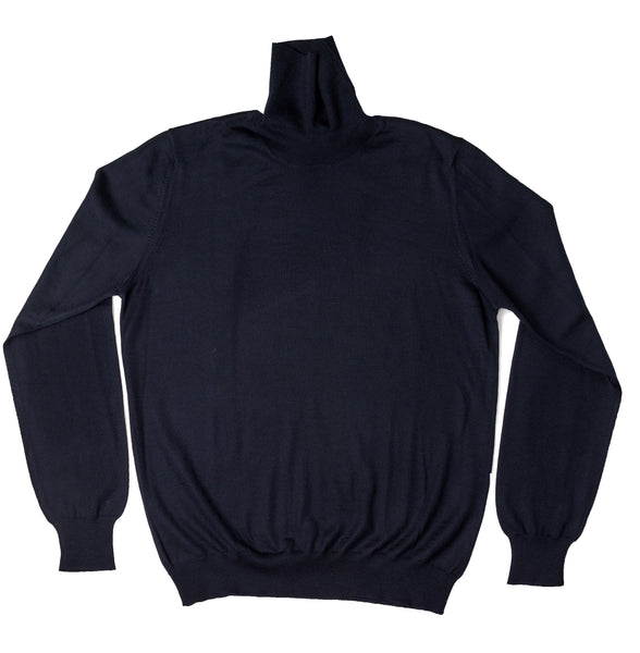 Merino Turtleneck - Blue