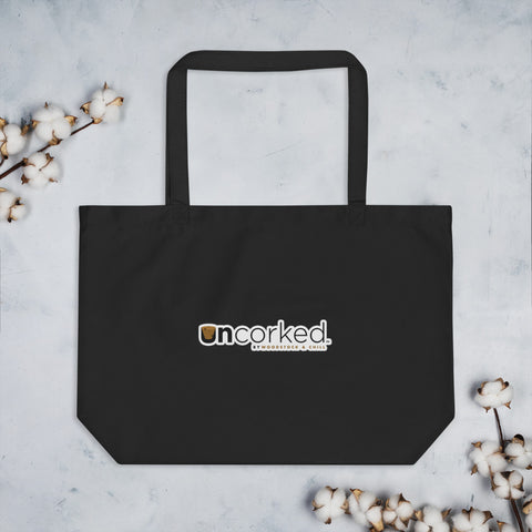 Corked Responsibly - Large organic tote bag