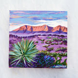 "Original Painting - Big Bend National Park, Texas - Acrylic in 8""x8"" Canvas"