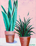 "Original Painting - Potted Plants - Acrylic in 8""x10"" Canvas"